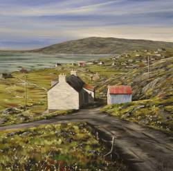 Red Roof over Eriskay