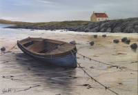 Beached Boat & Cottage - Barra